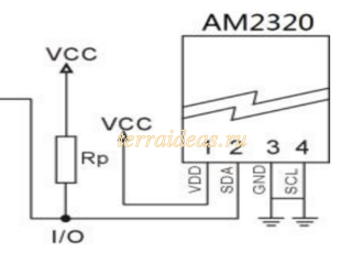 AM2320 pinout 1-wire